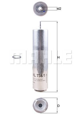 Inline fuel filter MAHLE ORIGINAL KL 736/1D expert knowledge