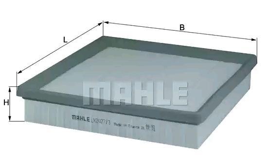 Luftfilter MAHLE ORIGINAL LX 2077/3 Rating