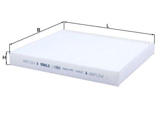 Innenraumfilter LA 569 MAHLE ORIGINAL 70527227 in Original Qualität