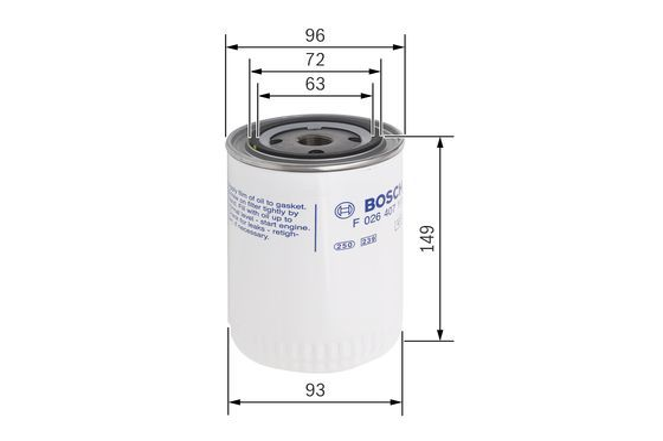 Ölfilter BOSCH P7111 4047024902268