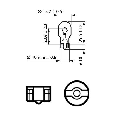 Bulb, indicator PHILIPS W16W rating