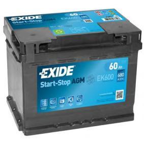 Starterbatterie EK600 TOURAN (1T1, 1T2) 1.4 FSI Bj 2006