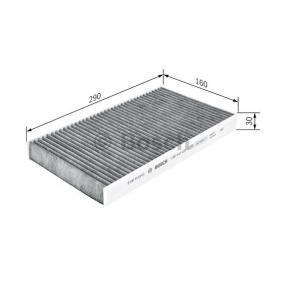 Filter, Innenraumluft Länge: 290mm, Breite: 160mm, Höhe: 30mm mit OEM-Nummer 60653641
