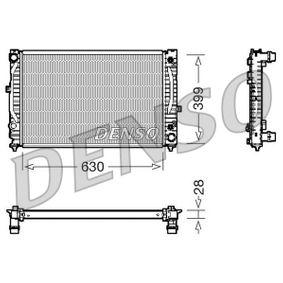 DENSO Kühler, Motorkühlung DRM02031 für AUDI A6 (4B2, C5) 2.4 ab Baujahr 07.1998, 136 PS