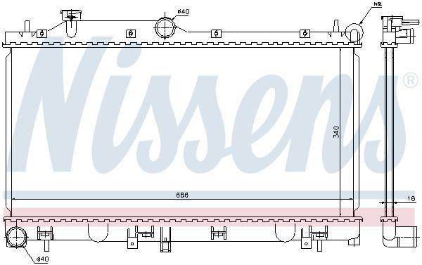 Radiatore Raffreddamento Motore NISSENS 67723 valutazione
