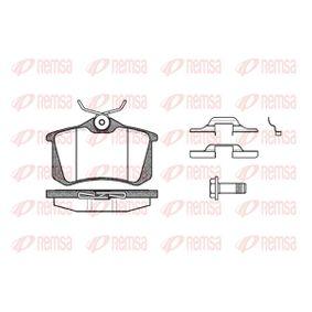 Bremsbelagsatz, Scheibenbremse Breite: 87mm, Höhe: 52,9mm, Dicke/Stärke: 17mm mit OEM-Nummer 1E0-698-451-D