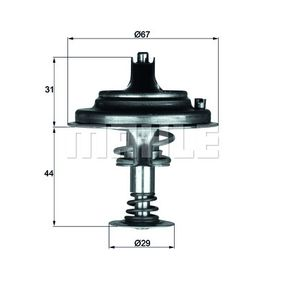 Thermostat, coolant with OEM Number A11 620 00 315