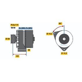 Lichtmaschine mit OEM-Nummer 008 154 48 02