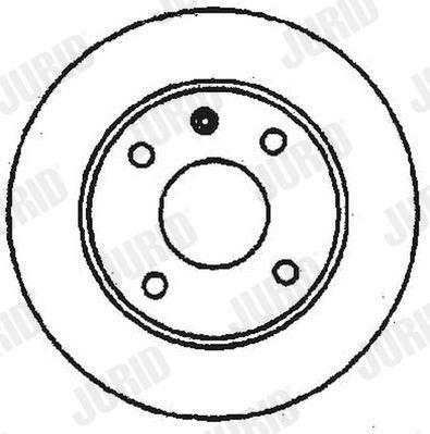 JURID  561178J Bremsscheibe Bremsscheibendicke: 20mm, Lochanzahl: 4, Ø: 239mm