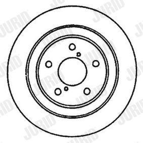 Bremsscheibe Bremsscheibendicke: 24mm, Lochanzahl: 5, Ø: 260mm mit OEM-Nummer 26310 AA021