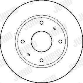 Bremsscheibe Bremsscheibendicke: 24mm, Lochanzahl: 4, Ø: 266mm mit OEM-Nummer 325 615 2893