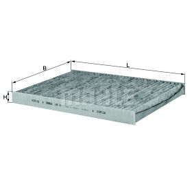 Filter, Innenraumluft Breite: 206,0mm, Höhe: 24,0mm mit OEM-Nummer 1HO 091 800
