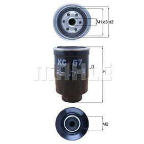Fuel filter Height: 137mm with OEM Number 164034U11A