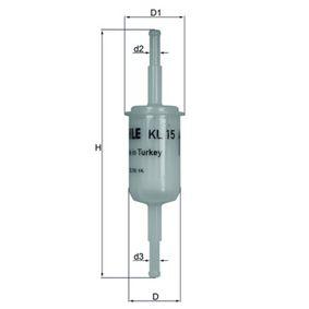 KNECHT Kraftstofffilter KL 15 OF für AUDI 100 (44, 44Q, C3) 1.8 ab Baujahr 02.1986, 88 PS