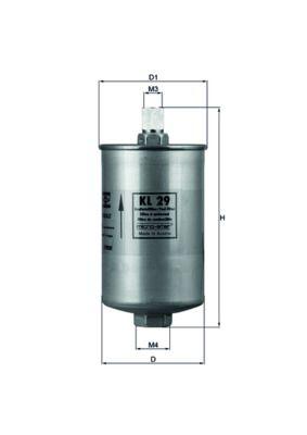 KNECHT  KL 29 Filtro carburante Alt.: 172,5mm