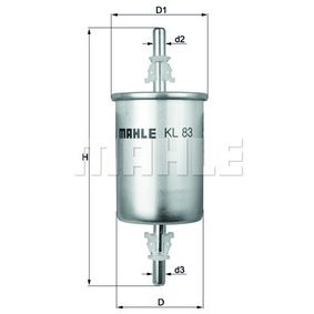 Fuel filter Height: 161mm with OEM Number 6081 3871