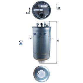 KNECHT Kraftstofffilter KL 147D für AUDI A4 (8E2, B6) 1.9 TDI ab Baujahr 11.2000, 130 PS