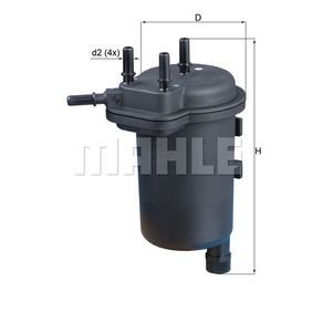 Fuel filter Height: 188mm with OEM Number 15410 84A00 000
