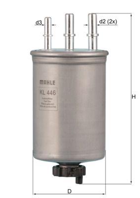 KNECHT  KL 446 Filtro combustible Altura: 187,0mm