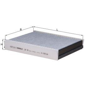 Filter, Innenraumluft Breite: 204,0mm, Höhe: 40,0mm mit OEM-Nummer 66809903