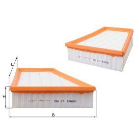 Luftfilter Länge: 218,3mm, Höhe: 57,3mm, Länge über Alles: 213,0mm mit OEM-Nummer 5JF129620A