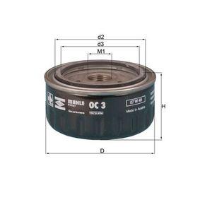 Ölfilter Ø: 86,5mm, Innendurchmesser 2: 62,0mm, Höhe: 50,0mm mit OEM-Nummer 7700 727 482