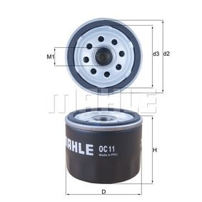 Oil Filter Ø: 76,3mm, Inner Diameter 2: 62,5mm, Height: 59,0mm with OEM Number 71736169