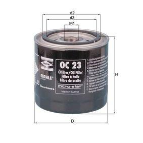 Ölfilter Ø: 93,2mm, Außendurchmesser 2: 72mm, Ø: 93,2mm, Innendurchmesser 2: 62mm, Innendurchmesser 2: 62mm, Höhe: 96mm mit OEM-Nummer 1560125010
