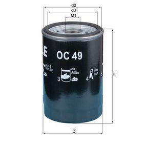 Ölfilter Ø: 76,0mm, Außendurchmesser 2: 72mm, Ø: 76,0mm, Innendurchmesser 2: 62mm, Innendurchmesser 2: 62mm, Höhe: 120mm mit OEM-Nummer 1142 9061 198
