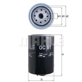 Φίλτρο λαδιού Εσωτερική διάμετρος 2: 62,0mm, Ύψος: 150,5mm με OEM αριθμός 83064
