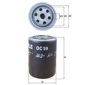 Filtro de aceite Ø: 93,2mm, Diám. int. 2: 62,0mm, Altura: 141,0mm con OEM número 1520843G00
