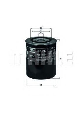 KNECHT  OC 76 Ölfilter Ø: 107,5mm, Ø: 107,5mm, Höhe: 139mm