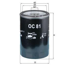 Ölfilter Ø: 76,0mm, Ø: 76,0mm, Höhe: 120mm mit OEM-Nummer 25010908