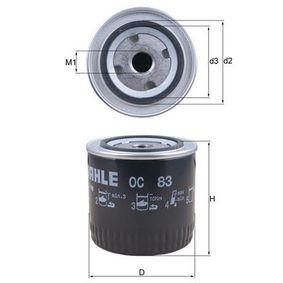 Ölfilter Ø: 93,2mm, Ø: 93,2mm, Höhe: 105mm mit OEM-Nummer 156513A