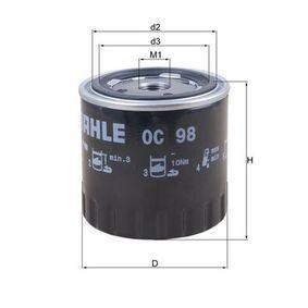 Ölfilter Ø: 86,5mm, Innendurchmesser 2: 61,0mm, Höhe: 89,0mm mit OEM-Nummer 1109.76