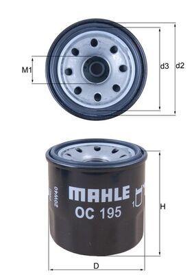 KNECHT  OC 195 Ölfilter Ø: 65,2mm, Ø: 65,2mm, Höhe: 66mm