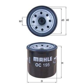 Ölfilter Ø: 65,2mm, Ø: 65,2mm, Höhe: 66mm mit OEM-Nummer 15208KA010