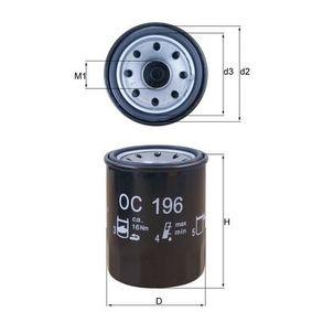 Ölfilter Außendurchmesser 2: 62,9mm, Ø: 65,5mm, Innendurchmesser 2: 54,5mm, Höhe: 86,5mm, Höhe 1: 85,0mm mit OEM-Nummer 649020