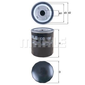 Oil Filter Ø: 76,0mm, Ø: 76,0mm, Height: 93mm with OEM Number 01174416
