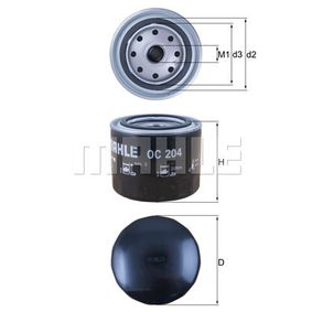 Ölfilter Ø: 93,2mm, Ø: 93,2mm, Höhe: 81mm mit OEM-Nummer 3517857