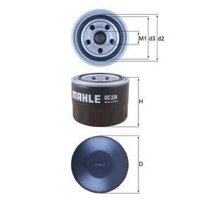 Ölfilter Außendurchmesser 2: 63,0mm, Ø: 76,0mm, Innendurchmesser 2: 59,7mm, Höhe: 65,6mm, Höhe 1: 65,0mm mit OEM-Nummer MZ 690072