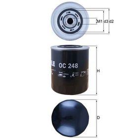 KNECHT  OC 248 Ölfilter Ø: 93,0mm, Innendurchmesser 2: 62,0mm, Höhe: 141,0mm