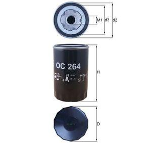 Ölfilter Ø: 76,0mm, Innendurchmesser 2: 62,0mm, Höhe: 119,5mm mit OEM-Nummer 078115561K