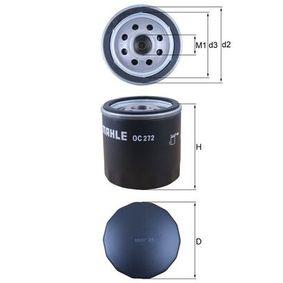 Ölfilter Höhe 1: 72,0mm, Ø: 76,0mm, Innendurchmesser 2: 62,0mm, Höhe: 73,5mm mit OEM-Nummer 606 218 30