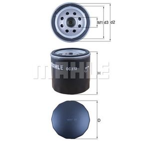 Oil Filter Height 1: 72,0mm, Ø: 76,0mm, Inner Diameter 2: 62,0mm, Height: 73,5mm with OEM Number 71771758