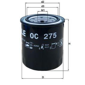Ölfilter Ø: 100,0mm, Ø: 100,0mm, Höhe: 122mm, Höhe 1: 120mm mit OEM-Nummer 119770-90620