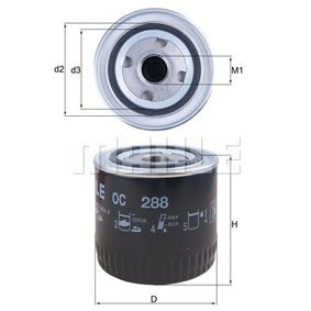 Ölfilter Außendurchmesser 2: 72,0mm, Ø: 93,2mm, Innendurchmesser 2: 62,0mm, Höhe: 101,0mm, Höhe 1: 99,5mm mit OEM-Nummer AJ04 14302F