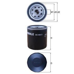 Ölfilter Innendurchmesser 2: 62,0mm, Höhe: 79,3mm mit OEM-Nummer 93 183 723