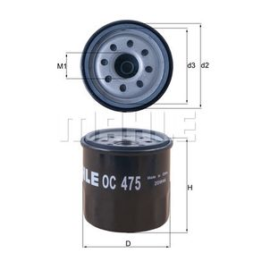 Ölfilter OC 475 TWINGO 2 (CN0) 1.2 16V Bj 2012