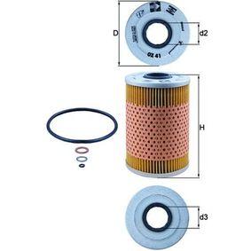 Ölfilter Ø: 82,0mm, Ø: 82,0mm, Innendurchmesser 2: 28mm, Innendurchmesser 2: 28mm, Höhe: 127mm mit OEM-Nummer 5004 282